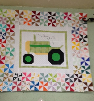Tractor Pinwheel quilt in progress - another lovely quilt from Farm Girl Vintage